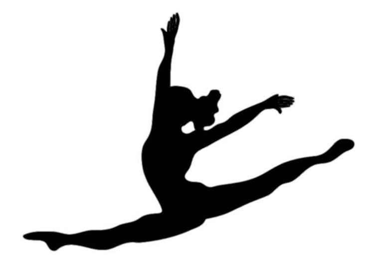 736x514 Shadows Clipart Gymnast