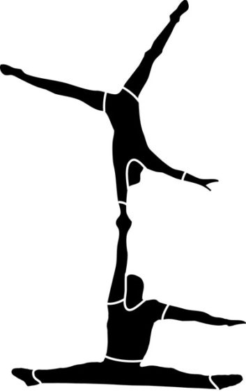 353x562 Acrobatic Gymnastics Clipart, Explore Pictures
