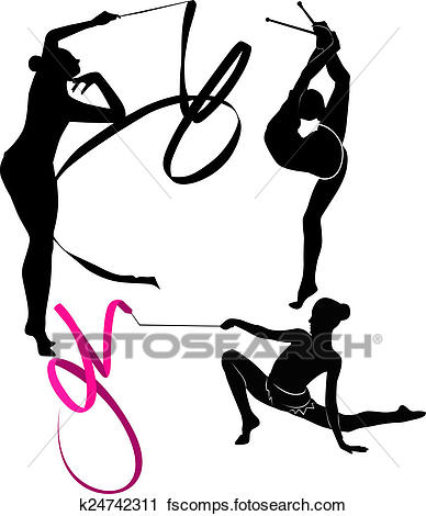 388x470 Clipart Of Gymnast K24742311