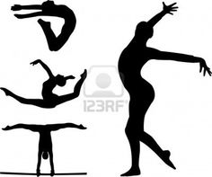 236x197 Gymnast Silhouette Clip Art 8 Of 20 Cut Up Shirts