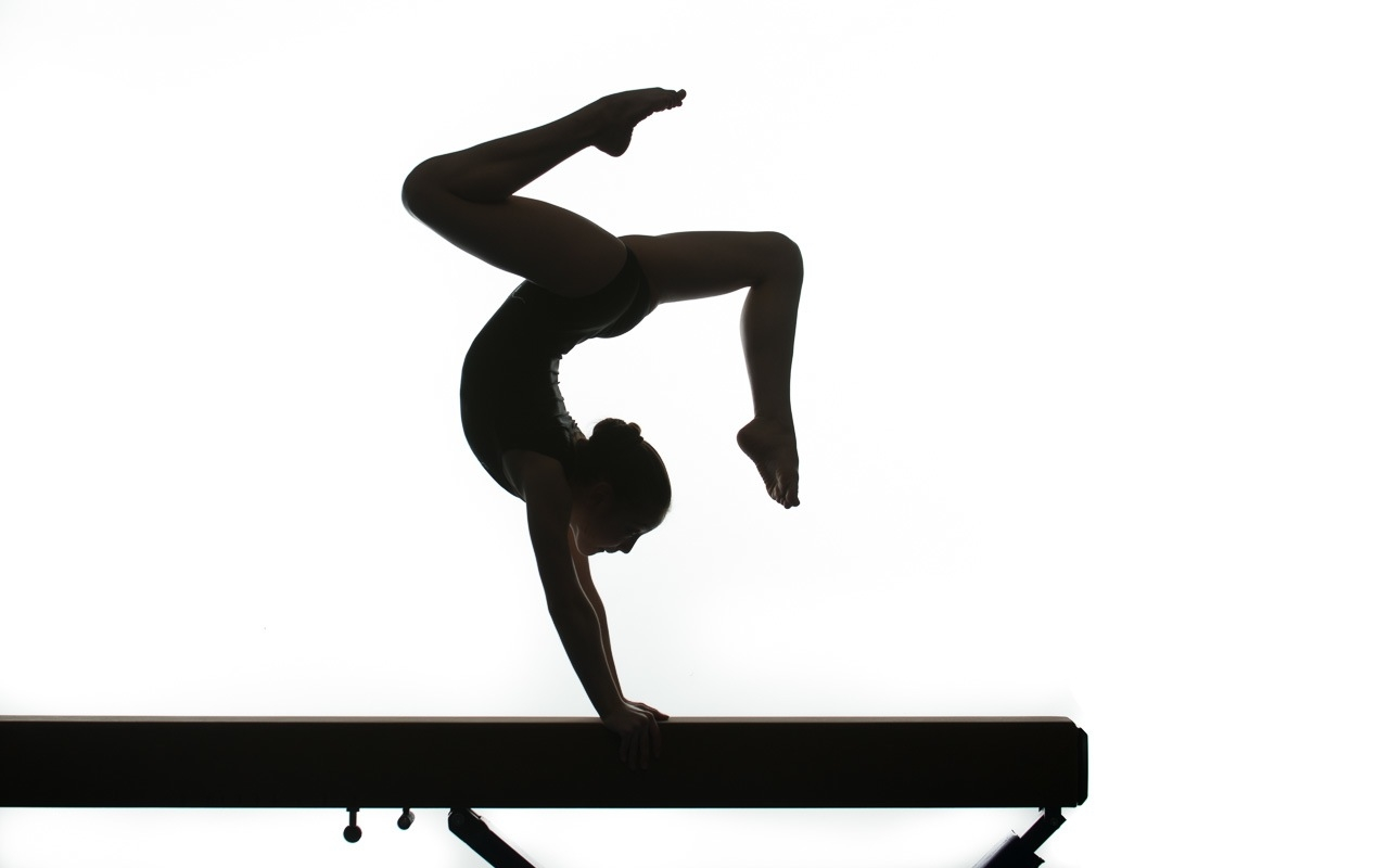 1280x800 Gymnast Clipart Handstand