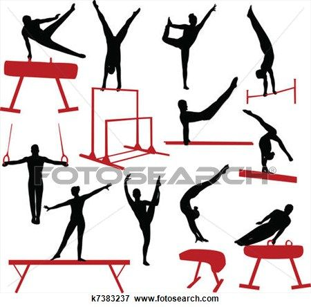 450x444 Gymnast Clipart Preschool Gymnastics