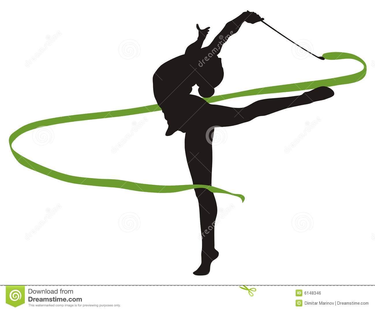 1300x1079 Ribbon Clipart Rhythmic Gymnastics
