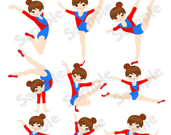 340x270 Gymnastics Digital Clipart Digital Girls Gymnastics Clip Art