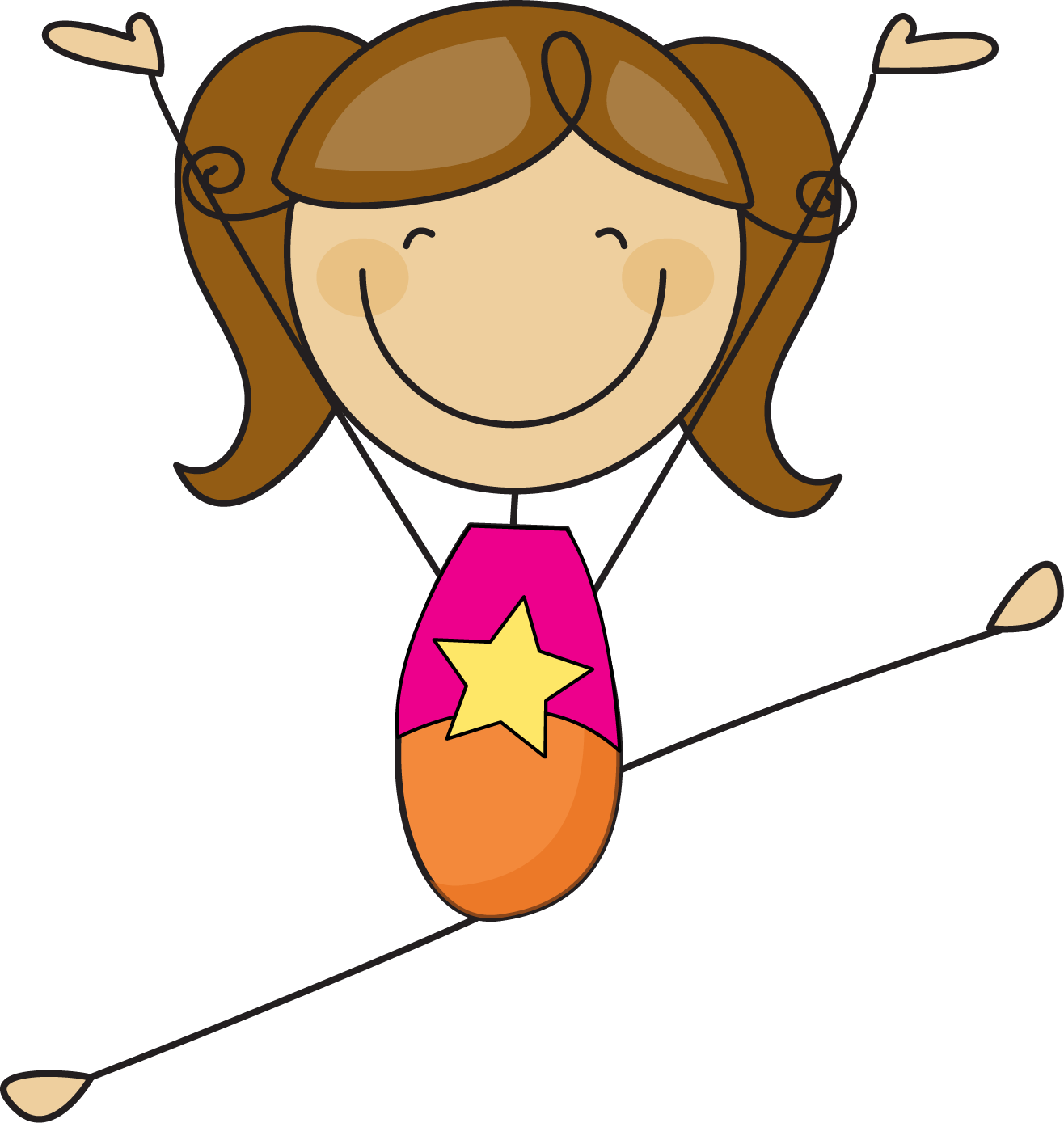 1316x1389 Clipart Of Little Girl In Gymnastics