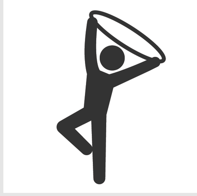 401x399 Png Gymnastics Black White Transparent Gymnastics Black