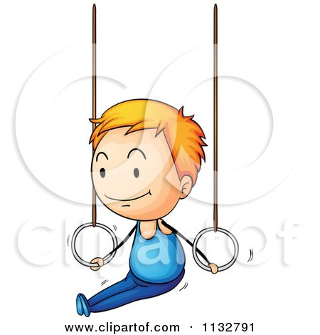 450x470 Cartoon Of A Gymnastics Girl On The Uneven Bars