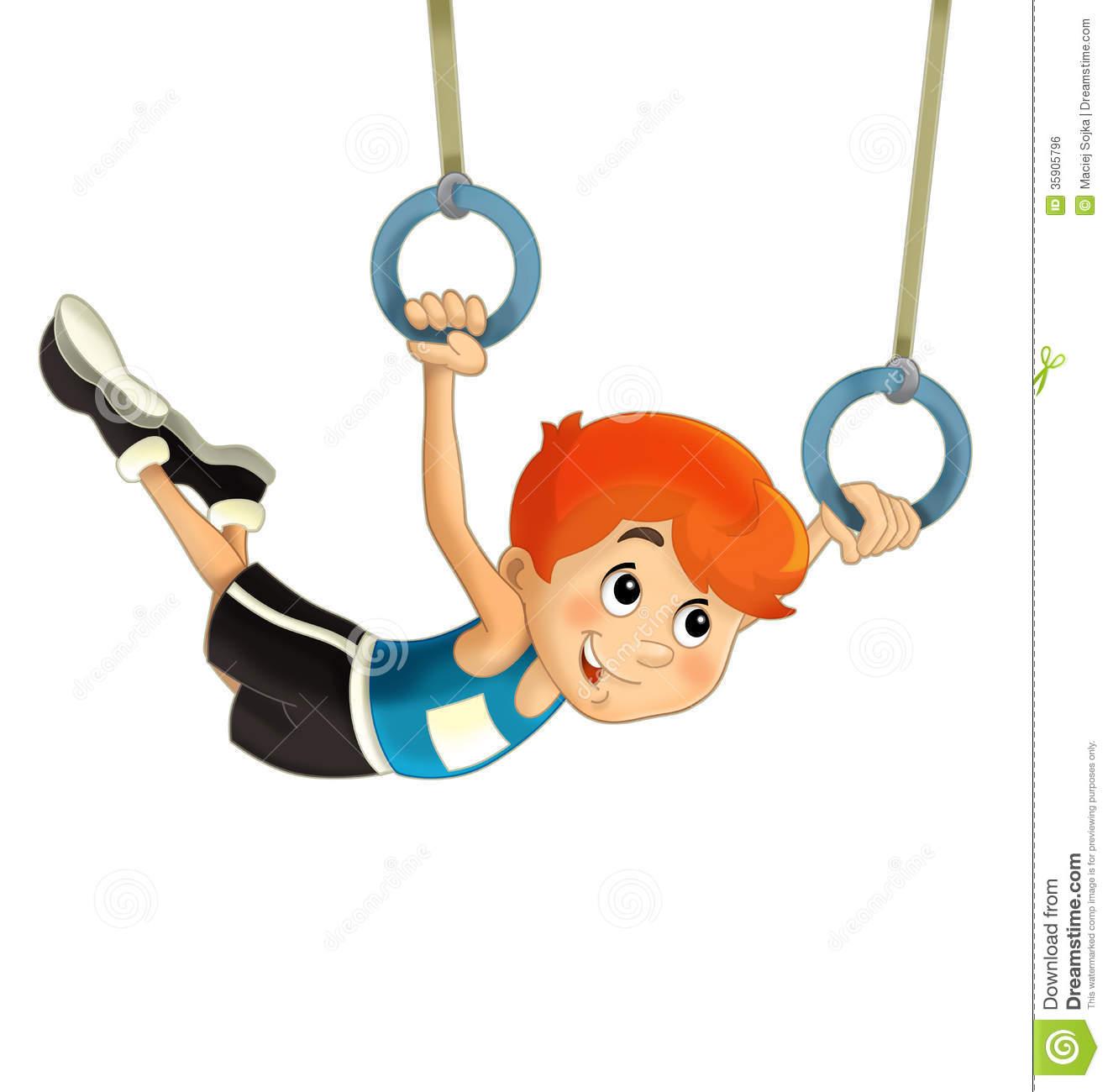 1319x1300 Gymnastics Cartoon Clipart