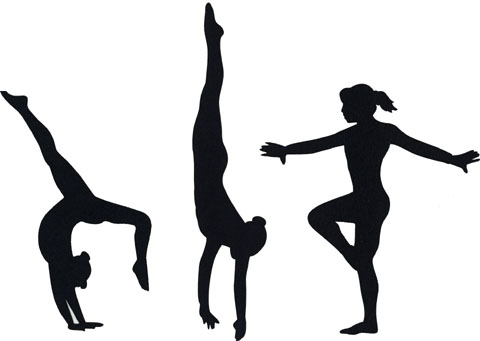 480x341 0 Images About Gymnastics Silhouettes On Gymnasts Clip Art