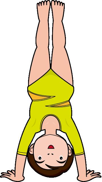 356x633 Free Gymnastics Clip Art Line