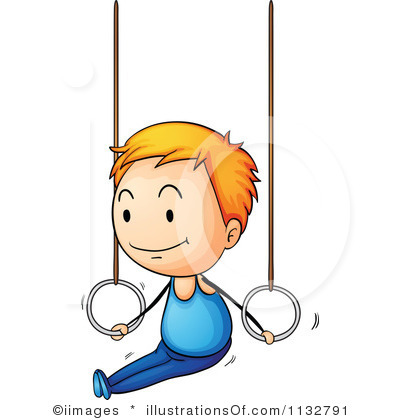 400x420 Gymnast Clipart Cartoon
