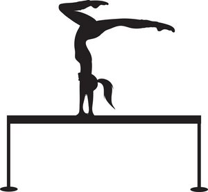 300x276 Gymnastics Cartoon Clipart