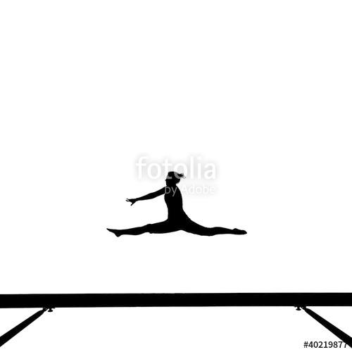500x500 Gymnast clipart beam