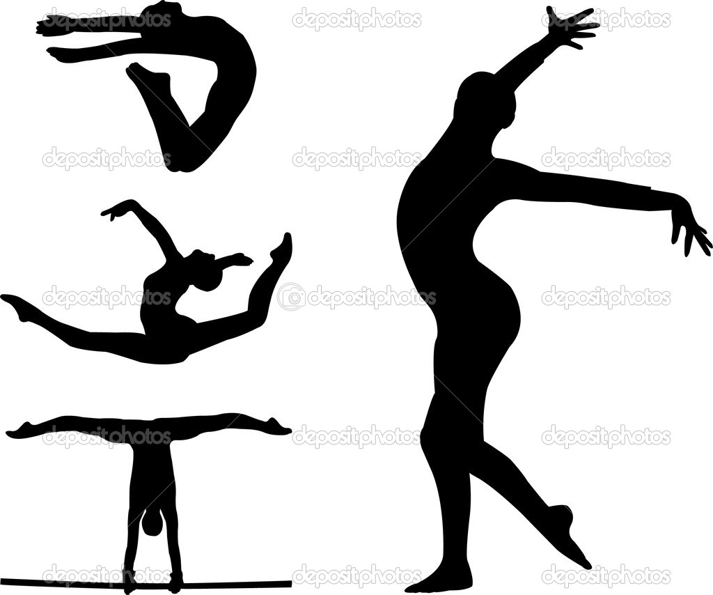 1024x854 Gymnastics Silhouette Clip Art