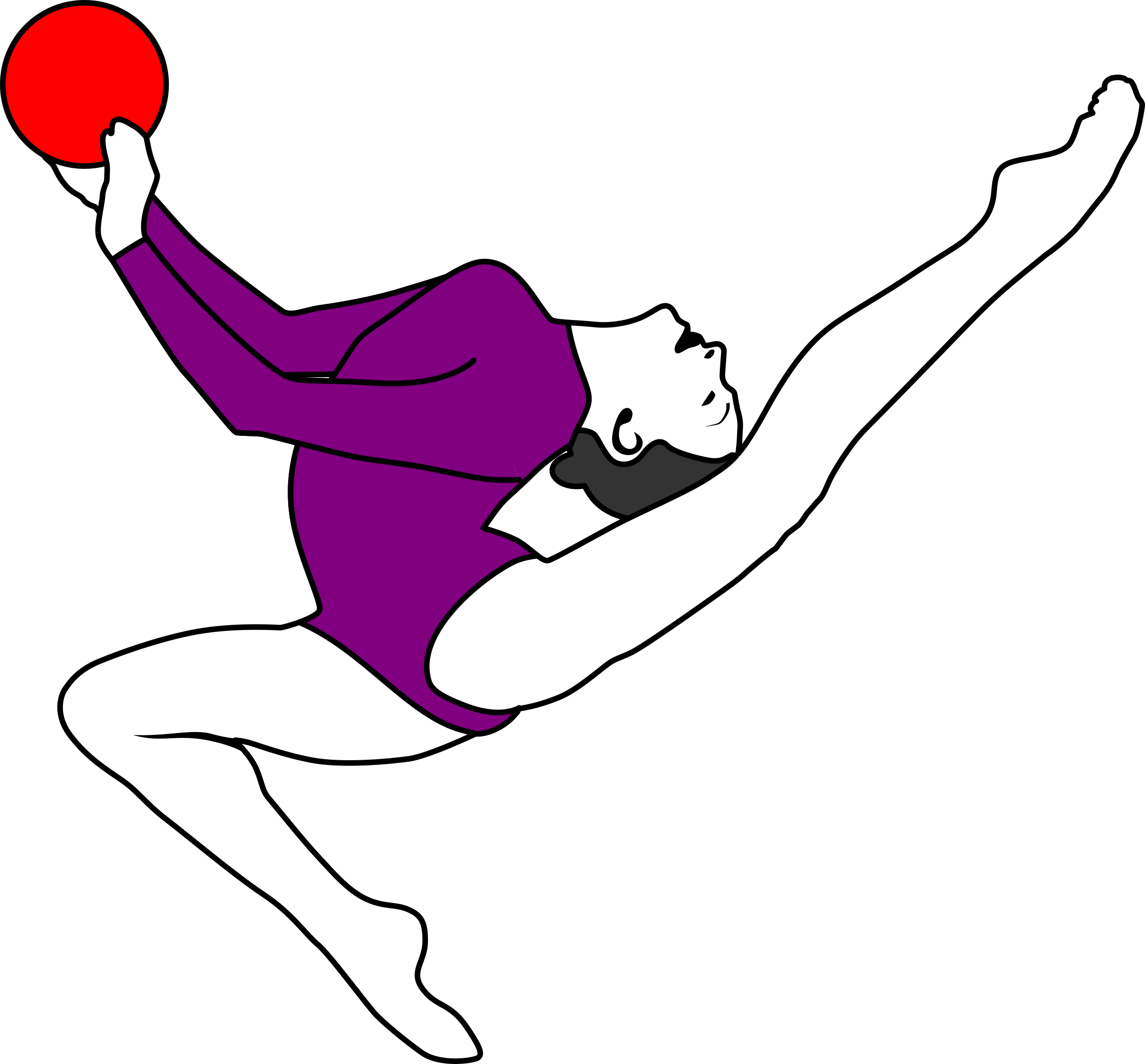 2400x2231 Gymnastics Clipart Purple