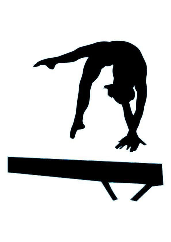 595x842 Gymnastics Silhouettes On Gymnasts Gymnastics And Clip Art