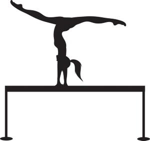 300x282 Gymnast Clipart Beam