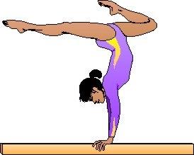 274x219 Gymnastics Clipart Walking On Beam