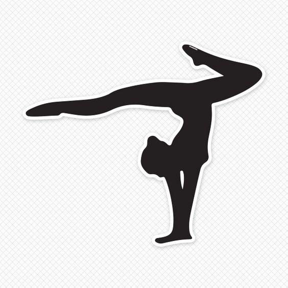 564x564 Gymnastics Silhouette Clip Art