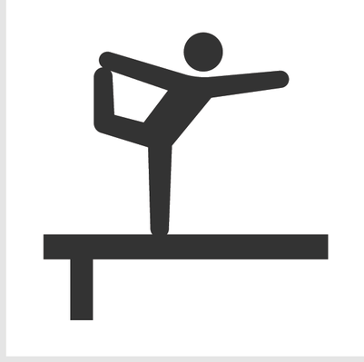 401x399 Gymnastics Clipart Balance Beam
