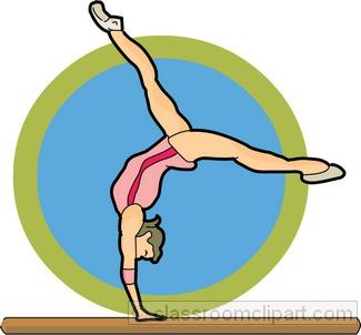 325x302 Gymnastics Clipart Blue