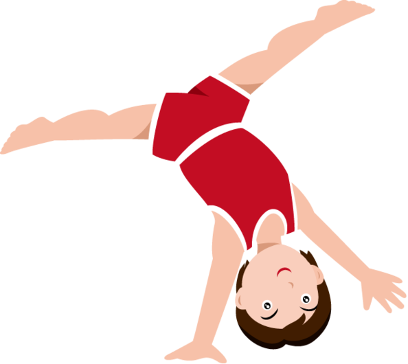 594x530 Gymnastics Clipart Black And White Free 2