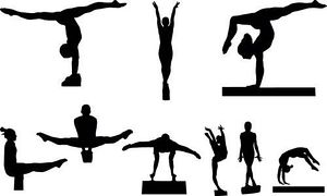 300x180 Gymnastics Clipart Vector