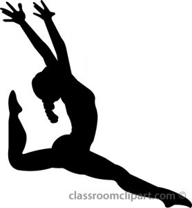 278x300 Splendid Design Gymnastics Clipart Black And White Free Cliparting