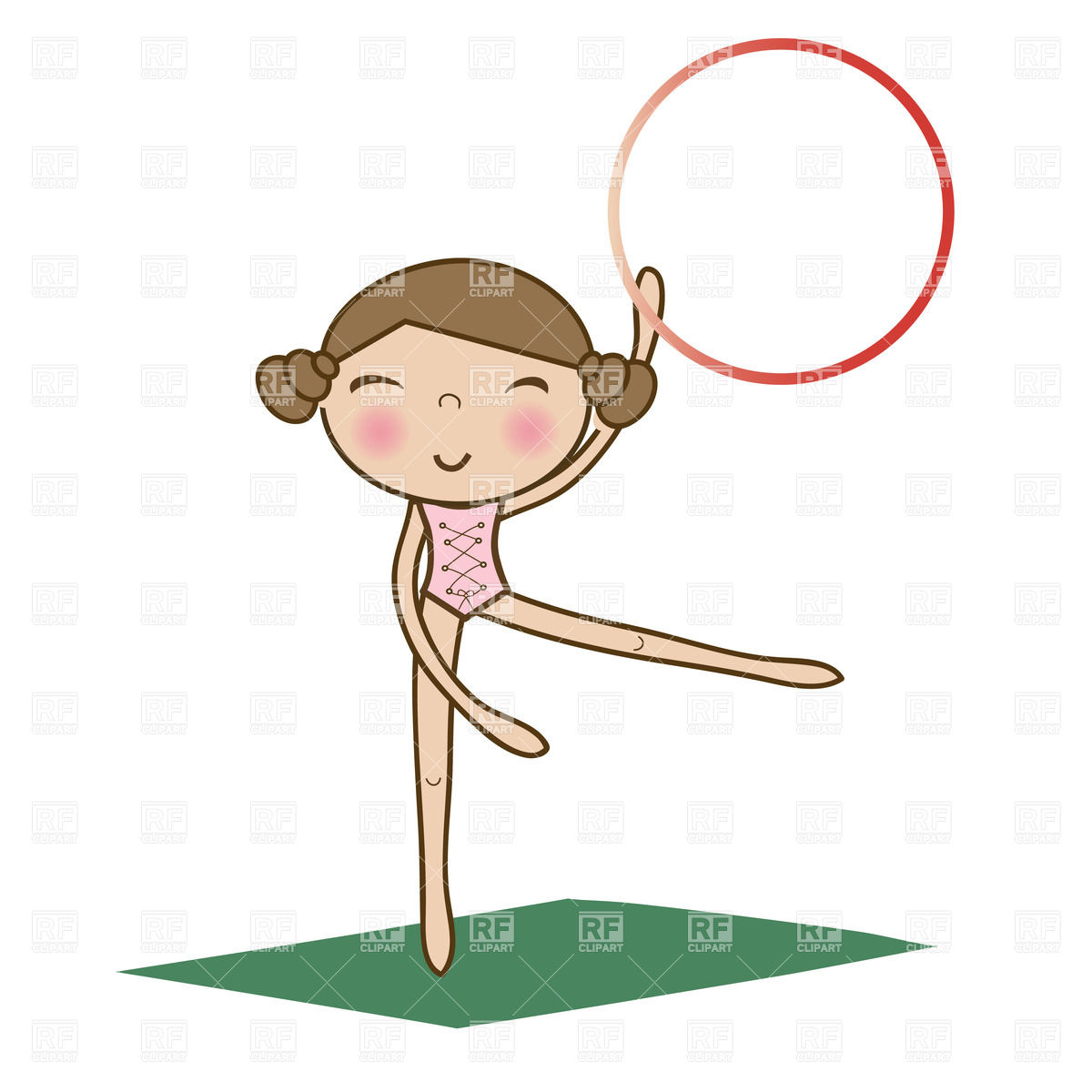 1200x1200 Girl Doing Gymnastics Clipart