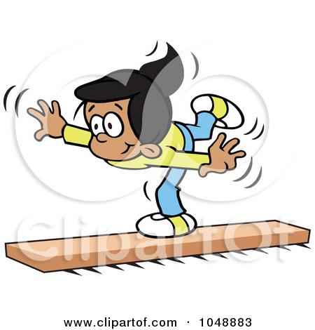 450x470 Gymnast Clipart Balance Beam