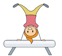 210x191 Gymnastics Clipart Beam Collection