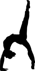 150x300 Gymnast Clip Art