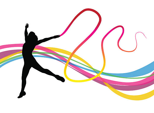 612x448 Gymnast Clipart Outline
