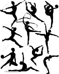 236x294 Free Printable Gymnastic Silhouettes To Use This Stock Image