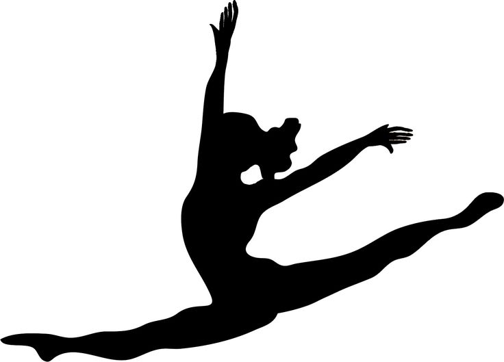 736x529 28 Best Gymnastics Silhouettes Images Ballet, Cheer
