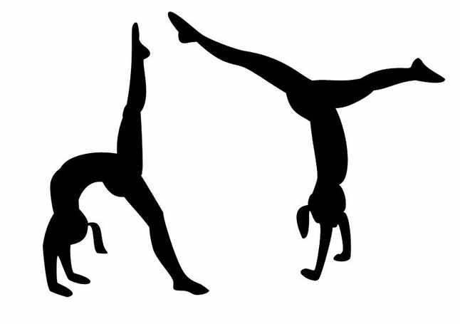 646x455 Gymnast Clipart