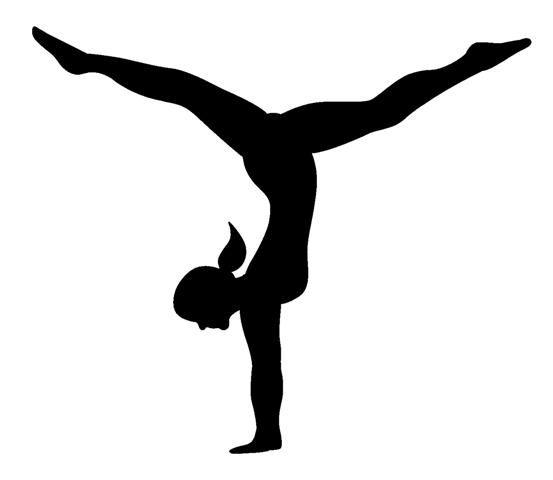 553x480 Gymnast Clipart Silhouette