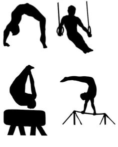 236x295 Gymnast Design Svg, Gymnastics Silhouette Svg And Dxf Patterned