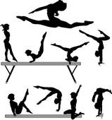 159x170 Gymnastics Clipart Black And White Clipart Free Clipart
