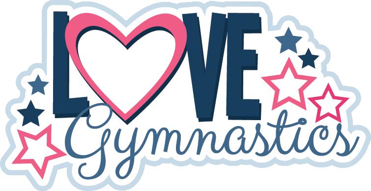 755x388 I Love Gymnastics Clipart