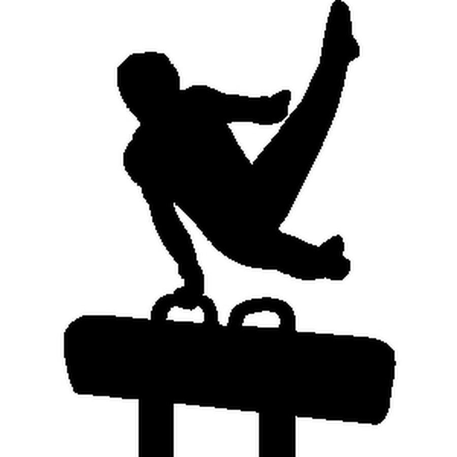 900x900 Boys Gymnastics Clipart Black And White