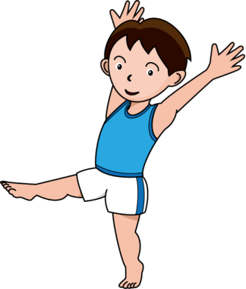 353x415 Childrens Gymnastics Clipart