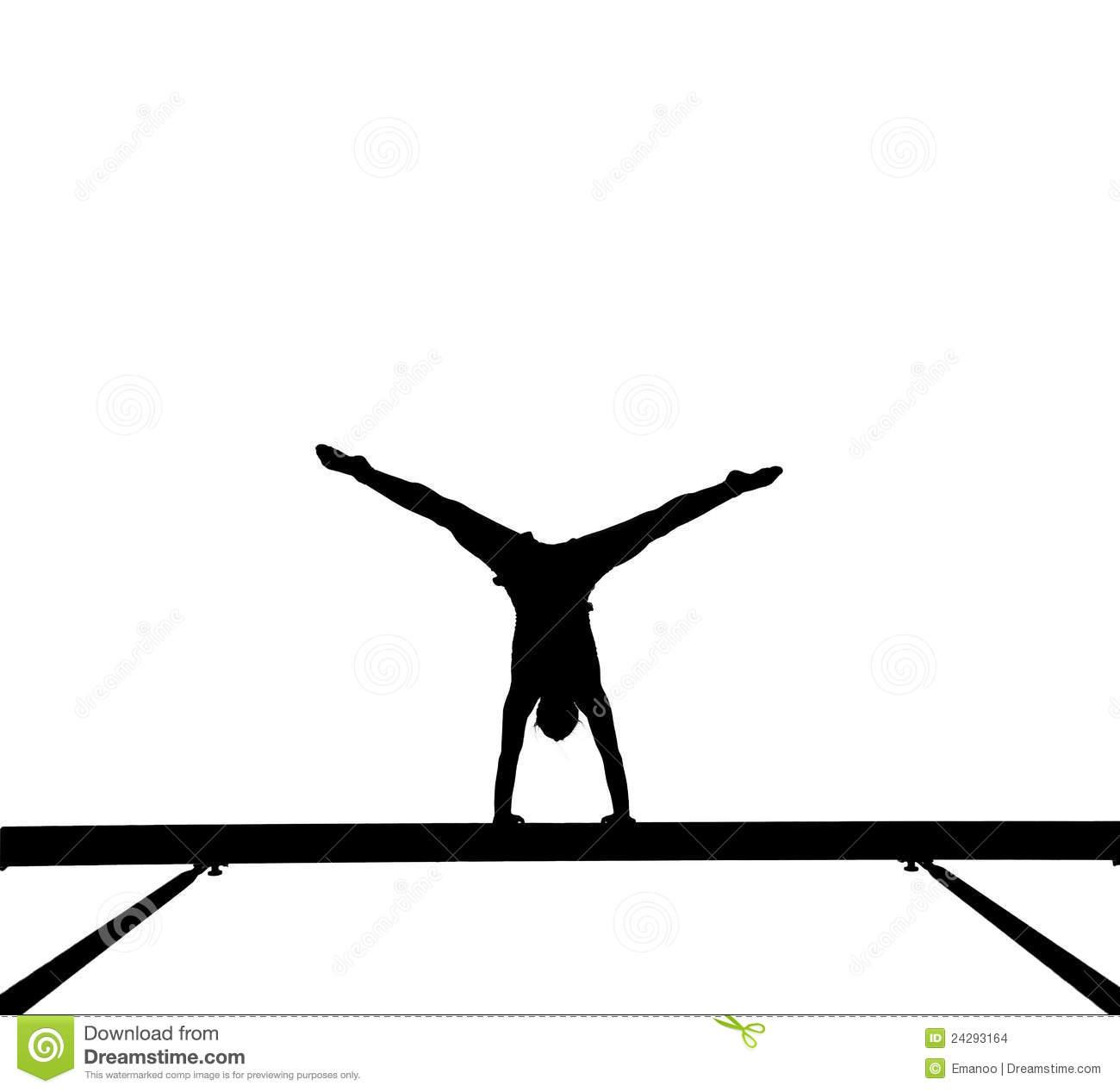 1300x1267 Gymnastics Clipart Silhouette Beam
