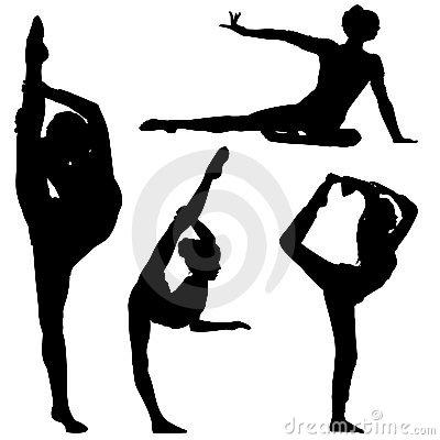 400x400 Girl Gymnastics Clipart Silhouette Clipart Panda