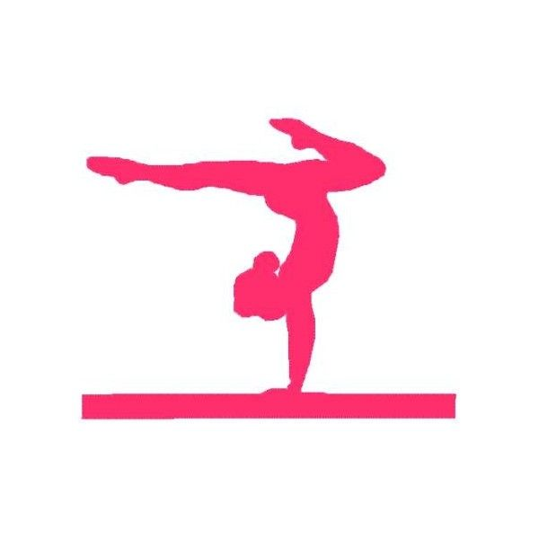 600x600 Gymnastic Silhouette Decals Pink Gymnastics Silhouette Leap