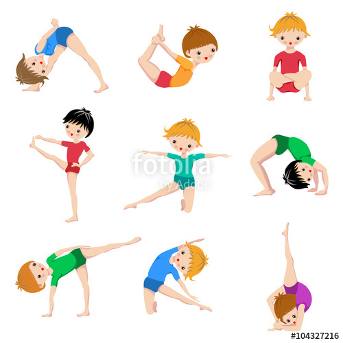 500x500 Gym Sketch Exercices Poster, Kids Yoga Poses, Gymnastics, Healthy