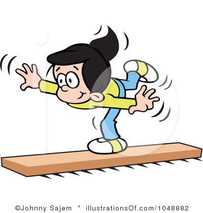 400x420 Gymnastics Clipart Balance Beam