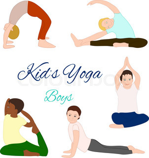 302x320 Yoga Kids Set. Gymnastics For Children And Healthy Lifestyle