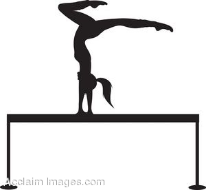 300x276 Clip Art Of A Silhouette Of A Gymnast