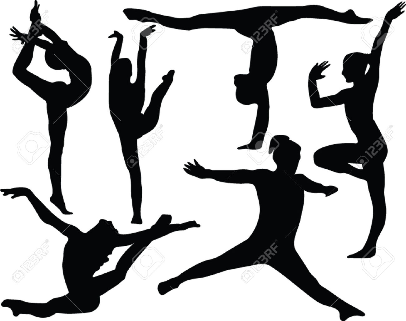 1300x1027 Gymnastics Clipart Outline